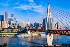 新的桥梁在重庆 免版税库存图片