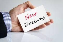 新的梦想文本概念 免版税库存图片