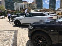新的模型的捷豹汽车陈列 免版税库存图片