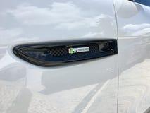 新的模型的捷豹汽车陈列 免版税库存照片