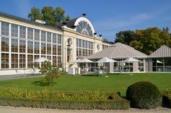 新的橘园在Lazienki公园在华沙 免版税库存照片