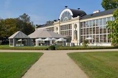 新的橘园在Lazienki公园在华沙 免版税库存图片