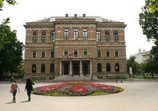 新的欧盟成员/克罗地亚科学院和艺术 免版税库存照片
