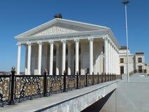 新的歌剧院在阿斯塔纳/哈萨克斯坦 库存照片