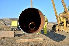 新的气体管道 库存图片