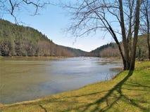 新的河足迹在弗吉尼亚 免版税库存图片