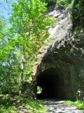 新的河足迹隧道 库存图片