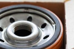 新的油过滤箱子 免版税库存照片