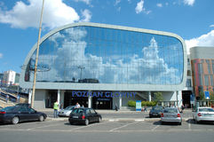 新的波兹南火车站 免版税库存照片