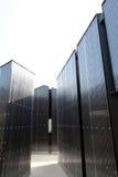 新的波纹状的金属房子 图库摄影