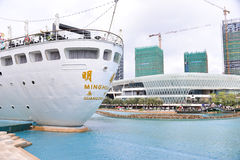 新的海世界广场,一深圳地标  免版税库存照片