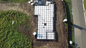 新的混凝土板准备澳大利亚建造场所 股票录像