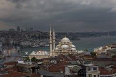 新的清真寺在伊斯坦布尔,土耳其 免版税图库摄影