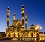 新的清真寺在巴库 免版税库存照片