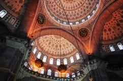 新的清真寺,伊斯坦布尔天花板  库存照片