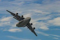新的温莎, NY - 2016年9月3日:巨型C-17 Globemaster III 库存图片