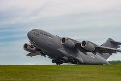 新的温莎, NY - 2016年9月3日:巨型C-17 Globemaster III 库存照片