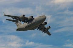 新的温莎, NY - 2016年9月3日:巨型C-17 Globemaster III 图库摄影