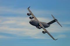 新的温莎, NY - 2016年9月3日:巨型C-17 Globemaster III 免版税库存照片