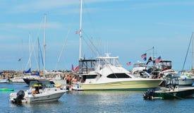 新的港口,石块海岛,罗德岛州 免版税库存照片