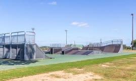 新的滑板公园蒙加马利,阿拉巴马 免版税库存照片