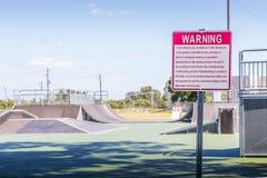 新的滑板公园蒙加马利,阿拉巴马 免版税库存图片