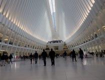 新的火车站在世界贸易中心 免版税库存图片
