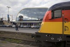 新的火车站在波兹南,波兰 库存图片
