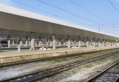 新的火车站在索非亚,保加利亚 免版税库存图片