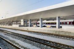 新的火车站在索非亚,保加利亚 图库摄影