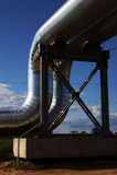 新的煤气总管 库存图片