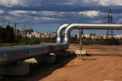 新的煤气总管 免版税库存照片
