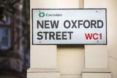 新的牛津街在伦敦 库存图片