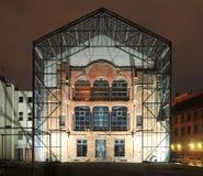 新的犹太教堂后方-柏林,德国 免版税库存照片