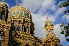 新的犹太教堂,柏林 免版税库存照片