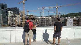 新的现代精华住宅区的建筑 影视素材