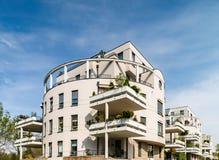 新的现代公寓在史特拉斯堡,法国 免版税库存图片