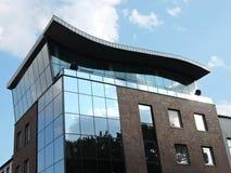 新的现代房子,立陶宛 免版税库存照片