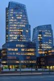 新的现代摩天大楼,维尔纽斯 库存照片