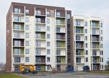 新的现代模件房子建筑 库存图片