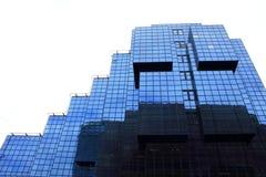 新的玻璃现代大厦门面伦敦市英国 免版税库存照片