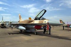 新的皇家摩洛哥人空军队F-16战斗机航空器 免版税图库摄影