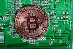 新的真正金钱 Cryptocurrency 图库摄影