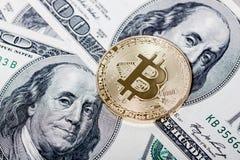 新的真正金钱 Cryptocurrency 免版税库存照片