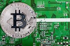 新的真正金钱 Cryptocurrency 免版税图库摄影