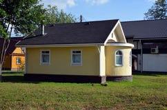 新的石房子待售 库存照片