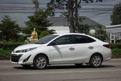 新的私有轿车汽车丰田亚里斯ATIV Eco汽车 免版税图库摄影