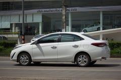 新的私有轿车汽车丰田亚里斯ATIV Eco汽车 免版税库存照片