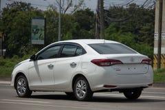 新的私有轿车汽车丰田亚里斯ATIV Eco汽车 图库摄影