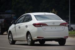 新的私有轿车汽车丰田亚里斯ATIV Eco汽车 库存照片